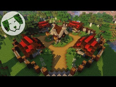 Minecraft Quick and Easy Nordic Well and Market Stall