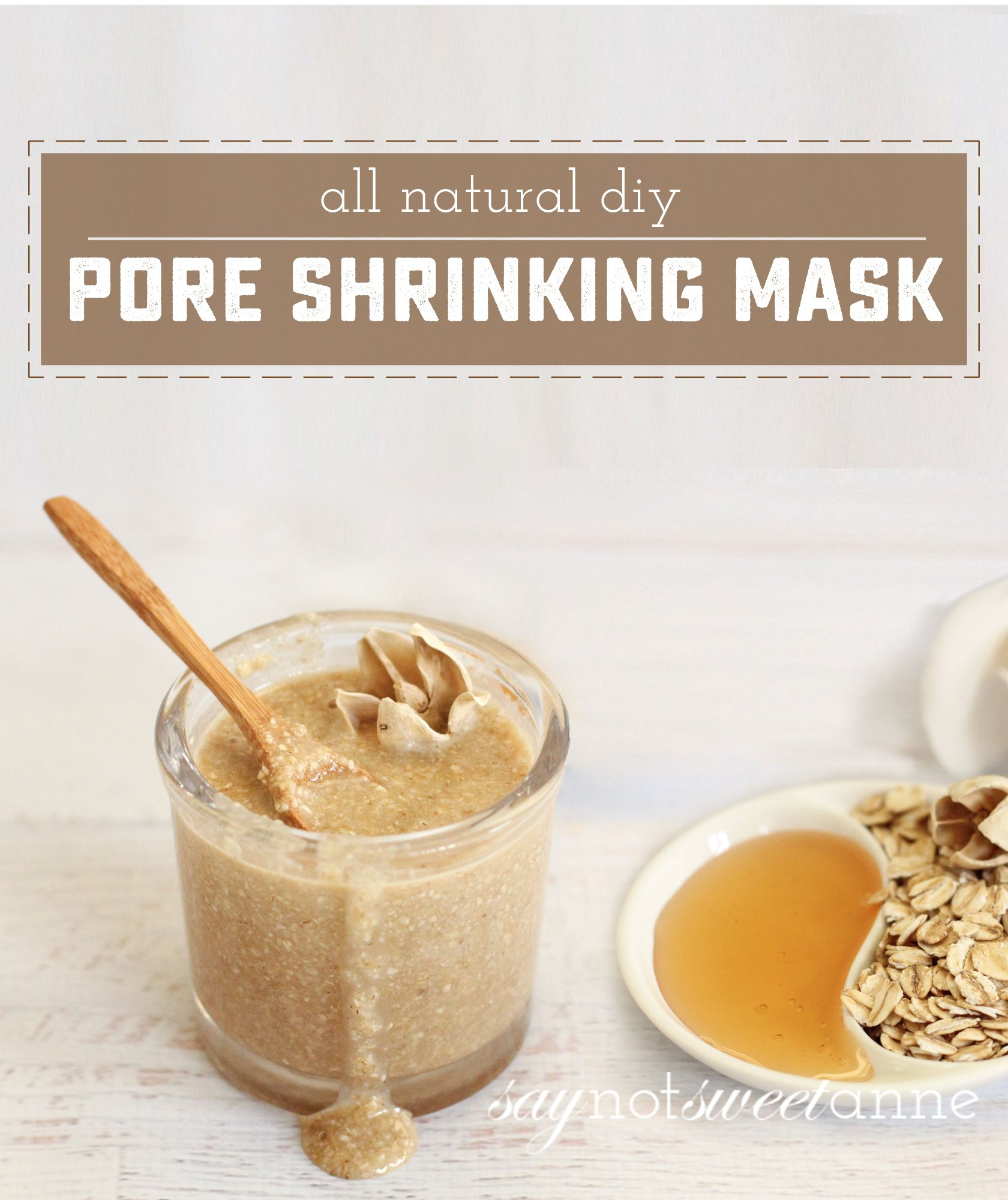 Photo of Natural Pore Shrinking Mask with honey and oatmeal. Gentle, easy and affordable …