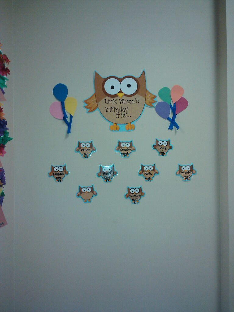 Birthday Wall Birthday Classroom Themes Preschool