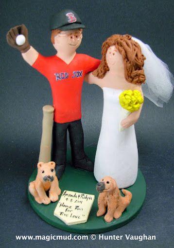 Boston Red Sox Fans WeddingCake Topper.