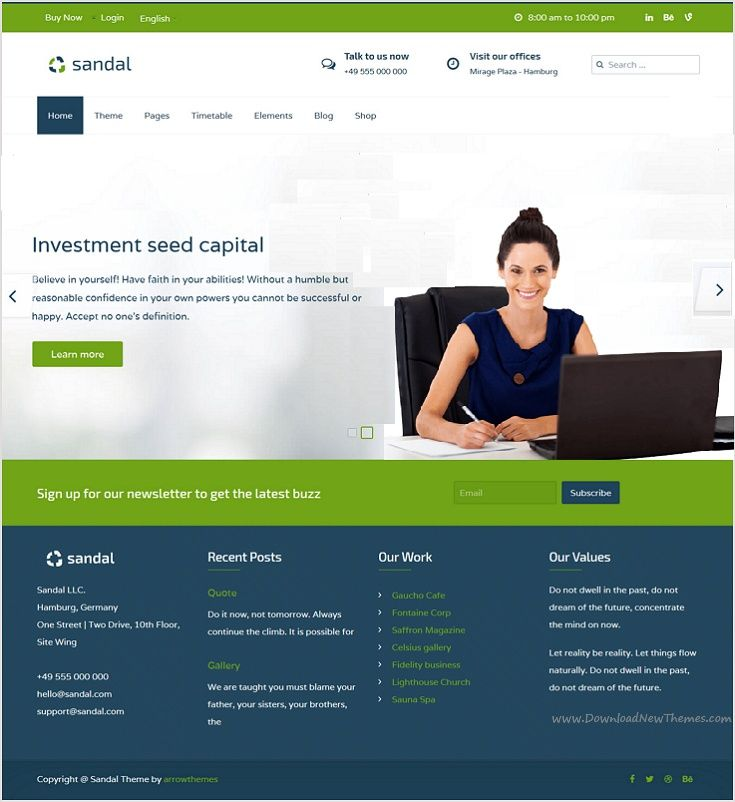 b6e207b11a1c6 Sandal is an impressive  professional  services  WordPress  template for  finance and consultancy