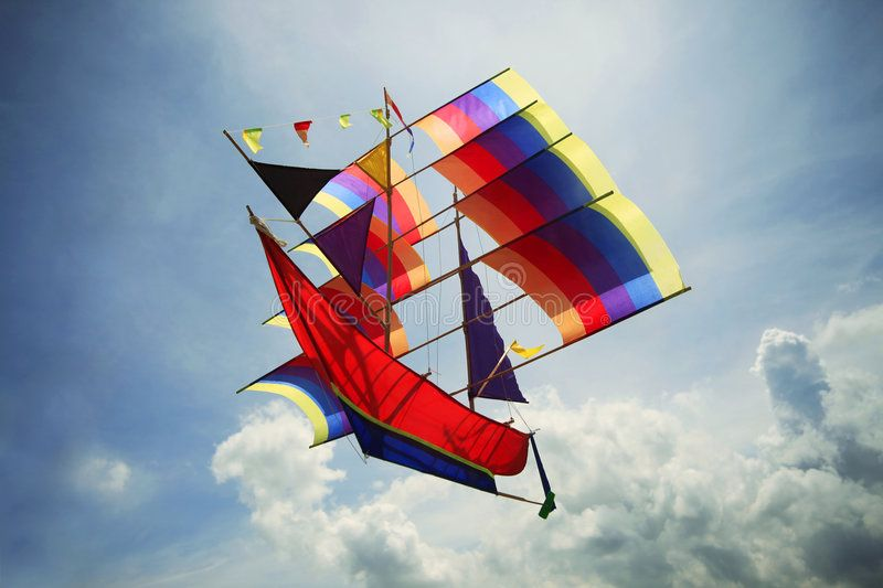 Fly A Kite A sailing vessel in the sky