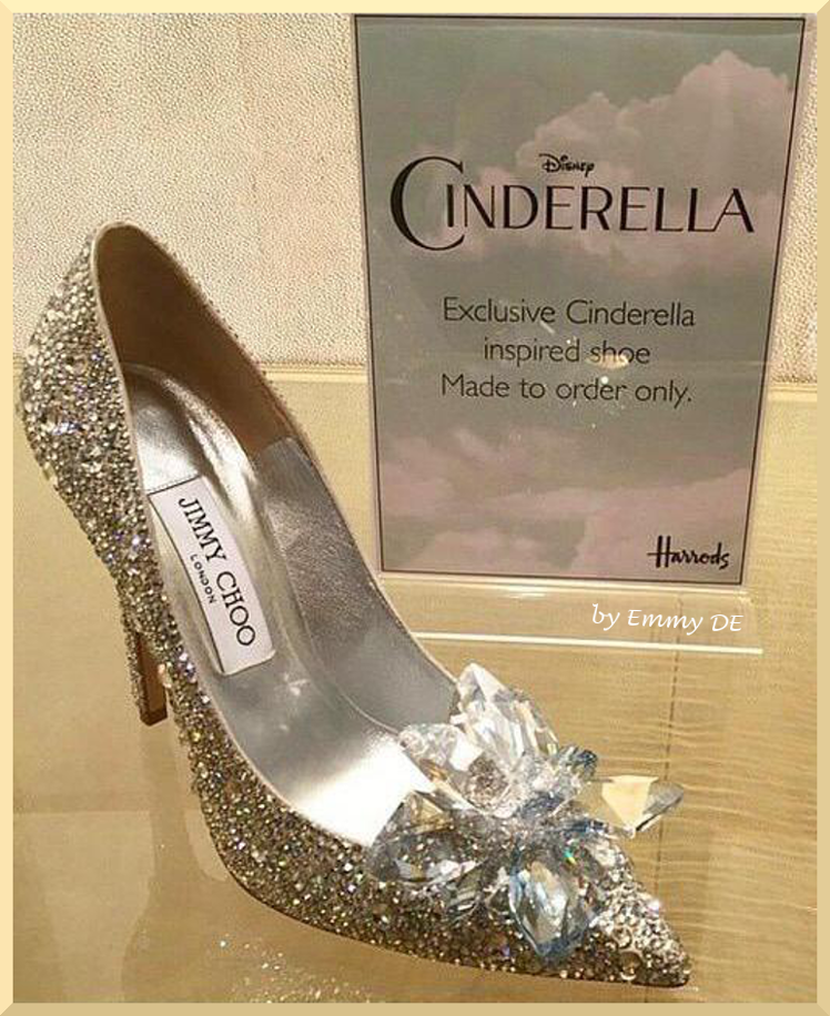 Emmy DE Jimmy Choo Exclusive Cinderella Inspired Shoe Made To Order Only
