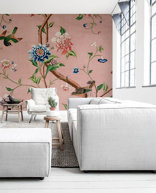 CHINOISERIE pink Decor, Wall decor, Chinoiserie