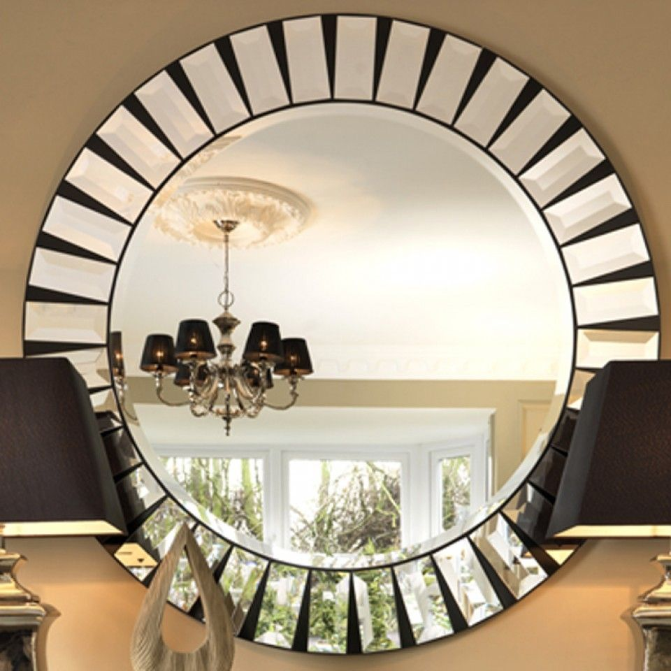 Black Orchid Luxury Quartz Round Mirror Furniture Mirrors Wall Pertaining To Round Art Deco Mirror Con Imagenes Espejos Decorativos Espejos Decoracion De Unas