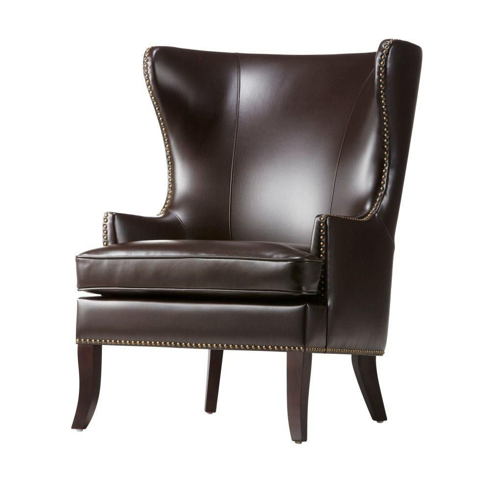 Best Moore Havana Brown Wing Back Accent Chair Dh7110 Hav Wingback Chair Red Leather Chair 400 x 300