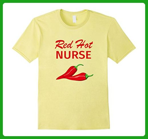 Mens Funny Nurse T Shirt Gift Red Hot Nurse 2XL Lemon - Careers professions shirts (*Amazon Partner-Link)
