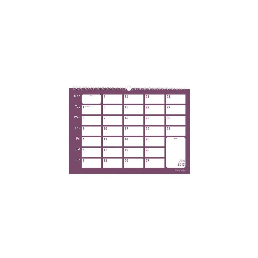 Collins Colplan Memo Calendar 2013, A4 - Staples