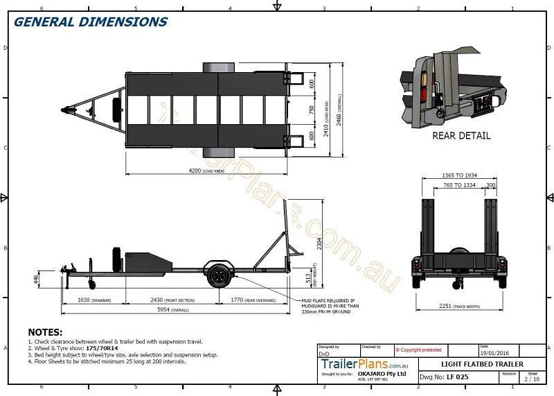 single axle flatbed 2200kg in 2019