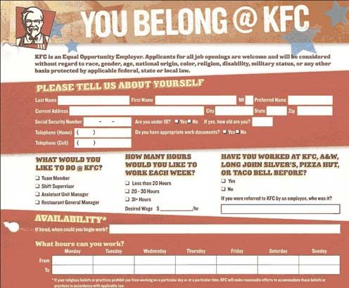KFC Online Application