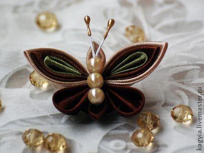 Заколки ручной работы. Ярмарка Мастеров - ручная работа Бабочки (в ассортименте) - зажимы, броши. Handmade.