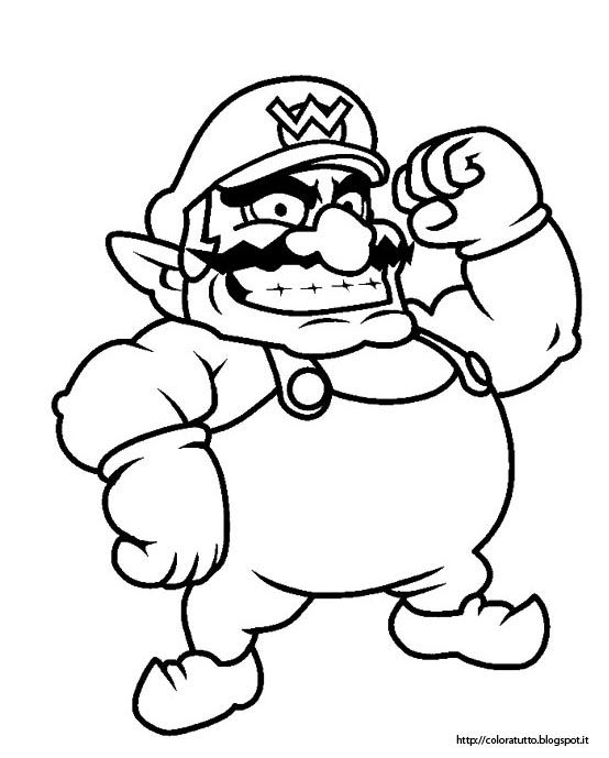 wario coloring pages - photo#4