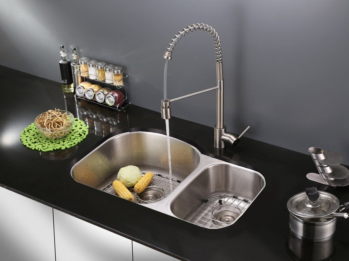 Ruvati RVF1210ST Commercial Style Kitchen Faucet | Best commercial ...