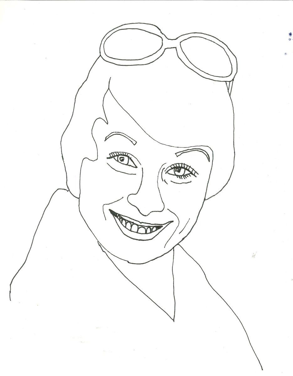 Joyce Bulifant Coloring Page   The celebrity coloring book by ...