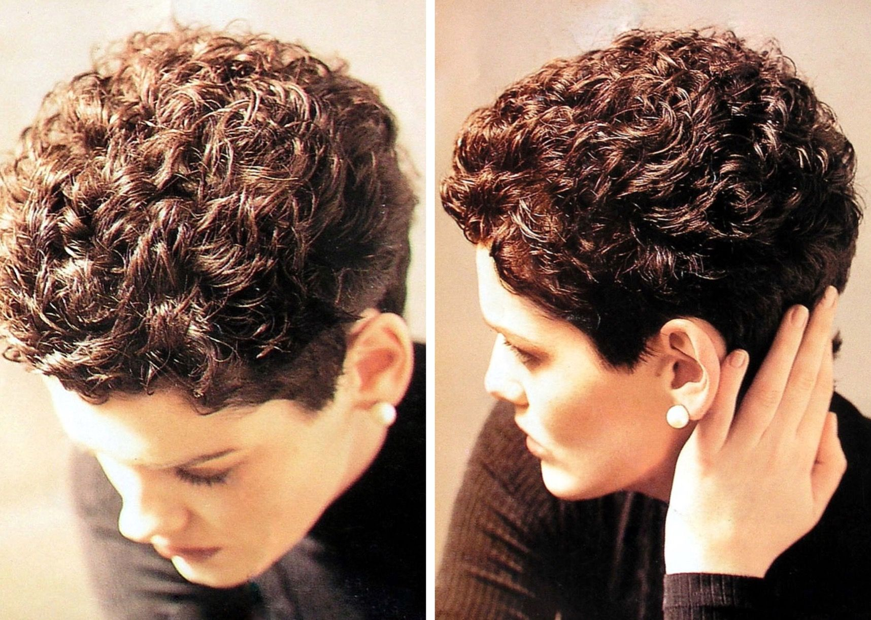 the perm is cute | short hair curls in 2019 | short permed