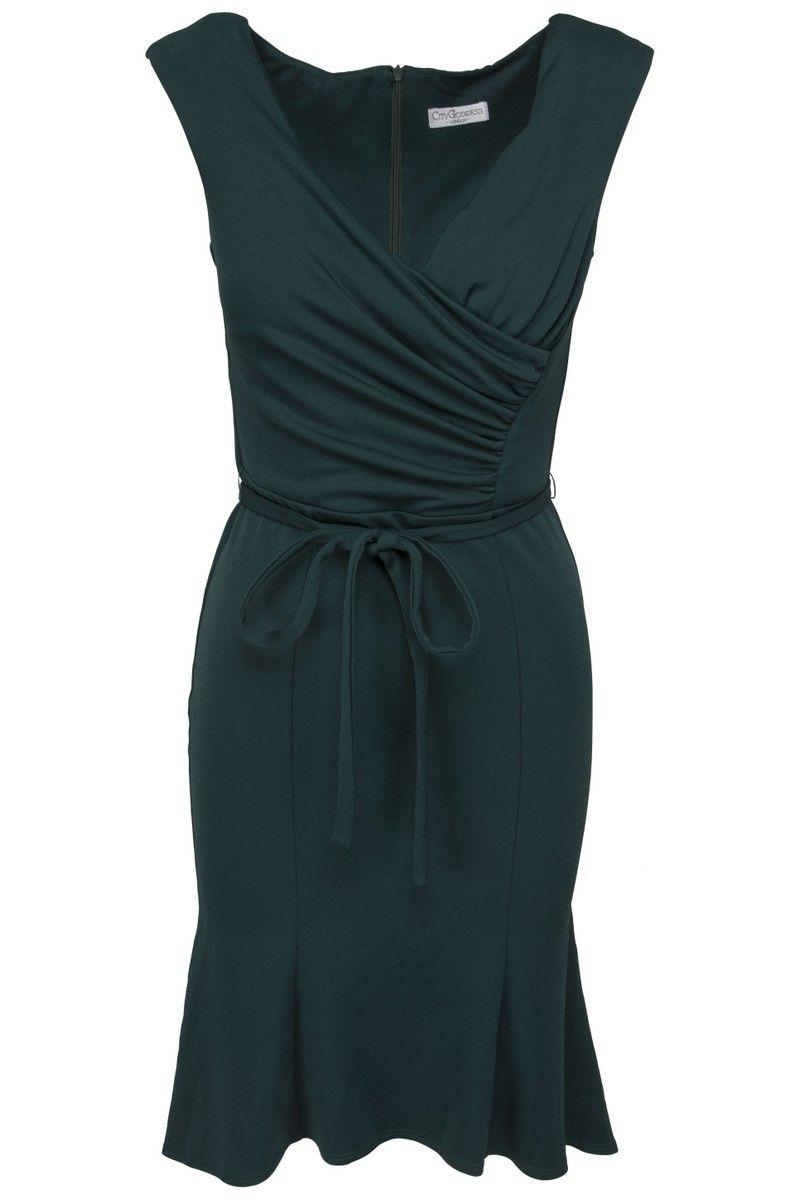 2b5981bfec9 Goddess flaskegrøn kjole | Fashion | Dresses, Fashion og Black