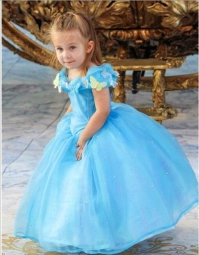 CINDERELLA Princess cosplay girl COSTUME Dress kids gift. Package: 1 pcs dress. Outstanding Quality! You cannot miss it! Color: as picture shown .