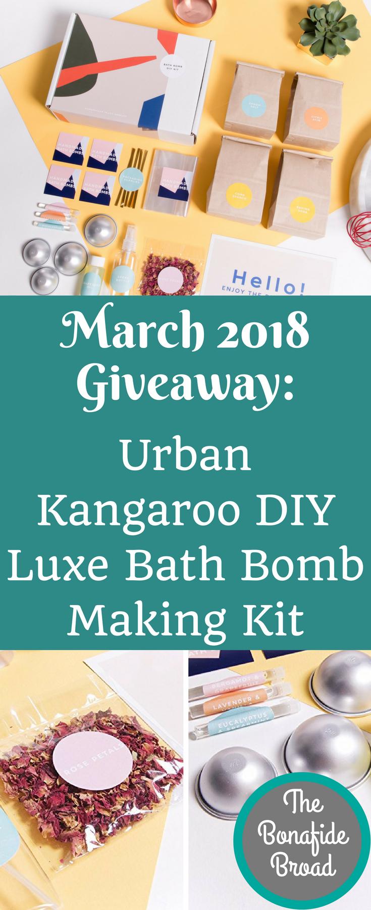 March 2018 giveawayurban kangaroo do it yourself luxe bath bomb kit solutioingenieria Image collections