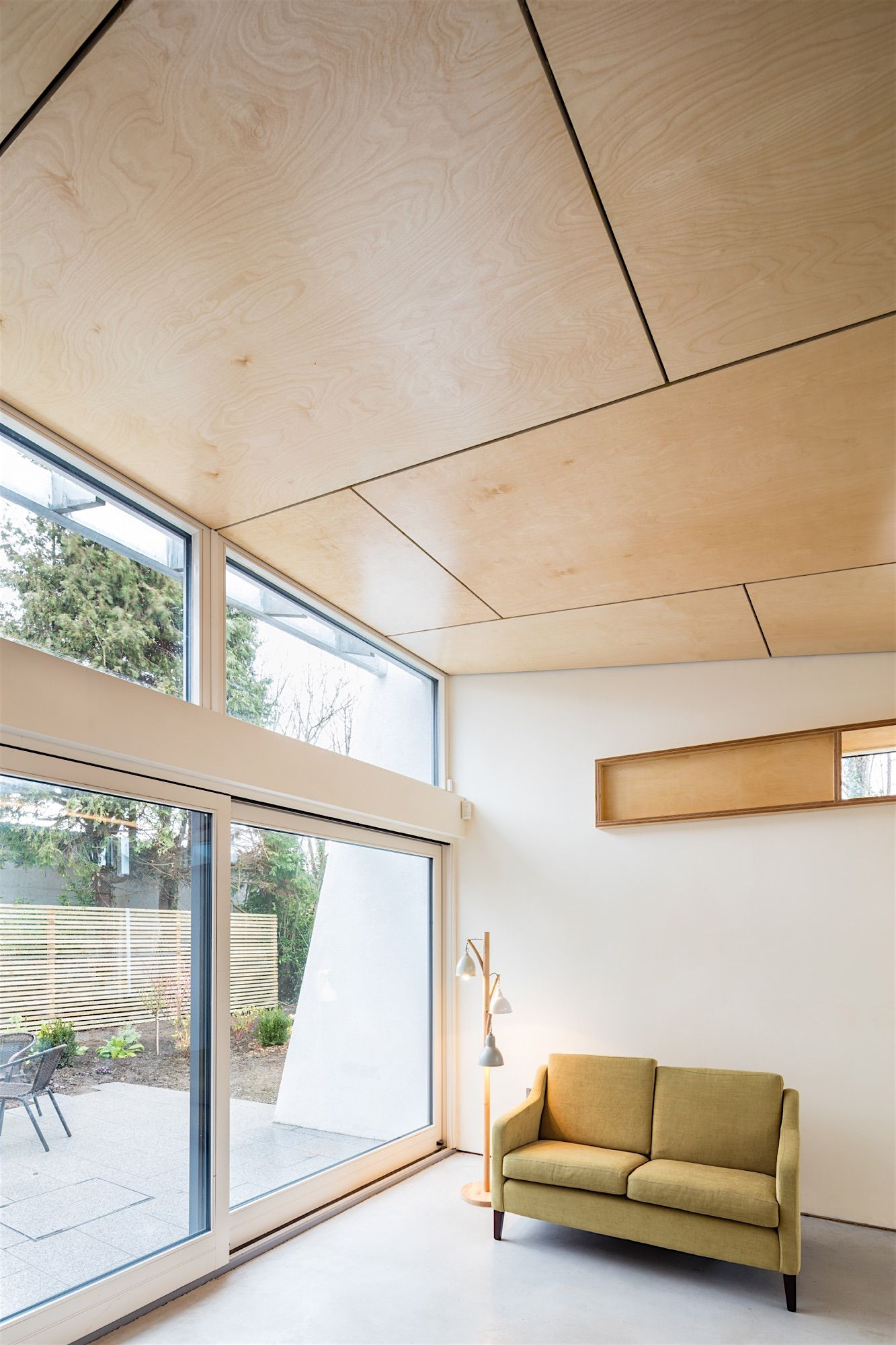 Bespoke Joinery  Birch Plywood Ceiling