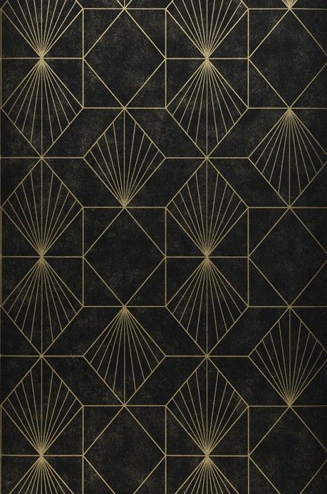 Wallpaper Maurus Padrao De Arte Arte Geometrica Posteres Art Deco