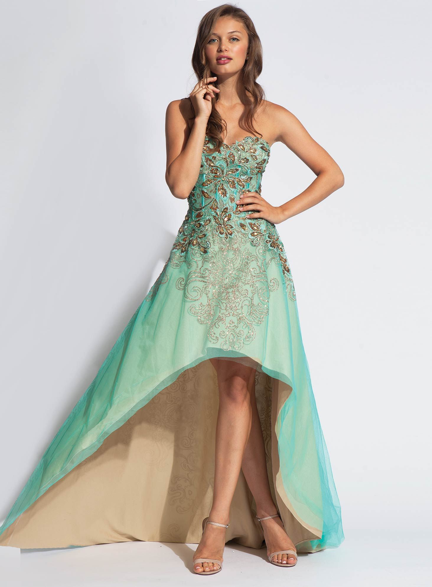 Jovani highlow embellished dress fashion pinterest