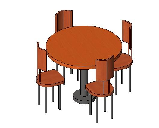Revitcity Com Object 4 Top Round 3 Diameter Fast Food
