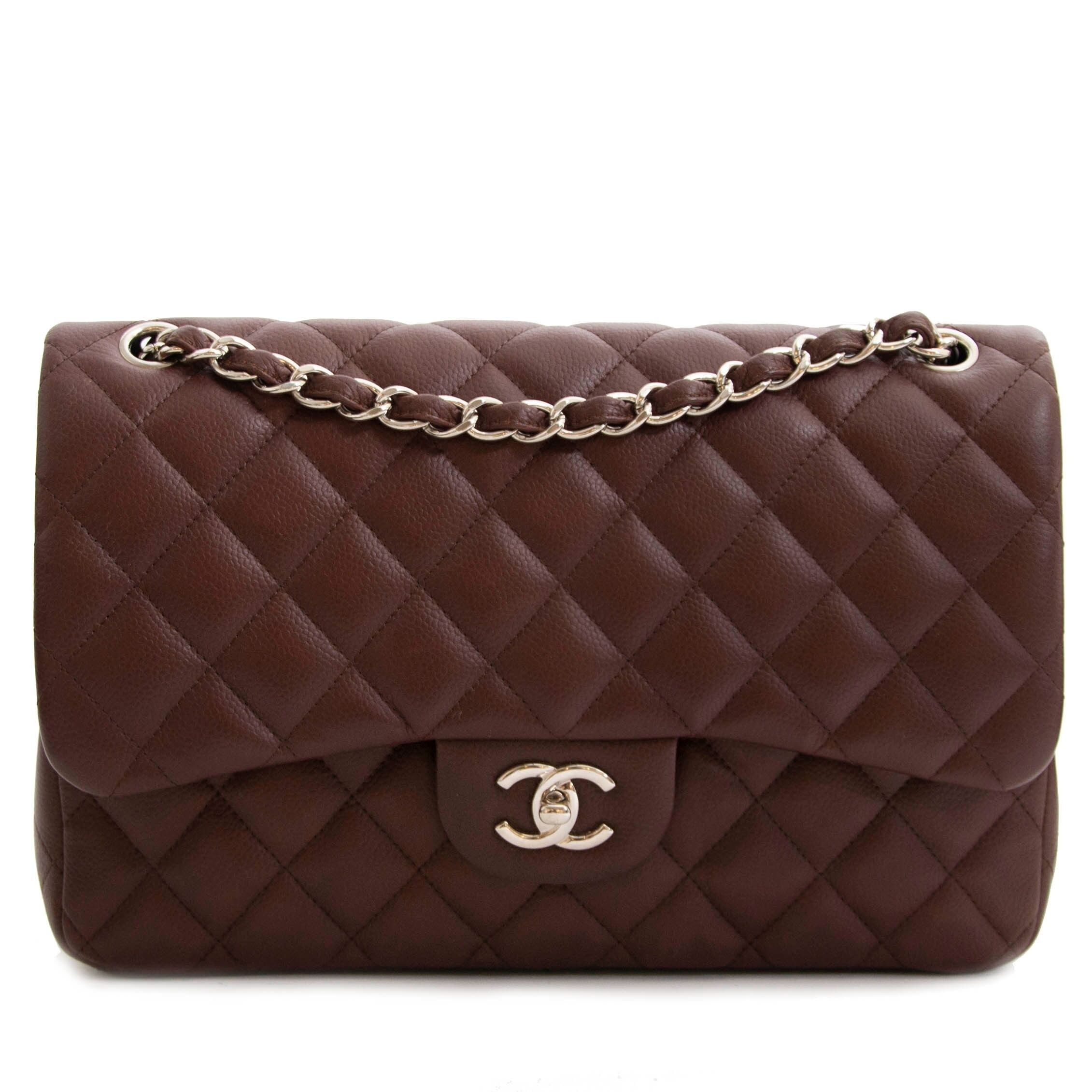 407920d8 Chanel Chocolate Brown Caviar Classic Jumbo Flap Bag | Shop Labellov ...