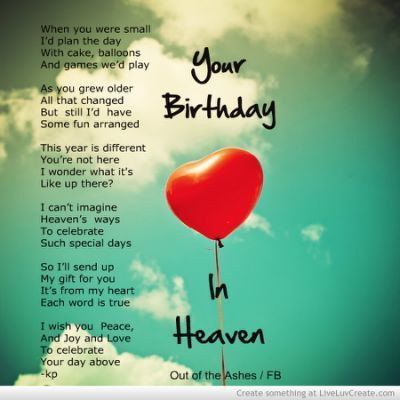 3fb6584e39b26 Today is your first birthday in heaven