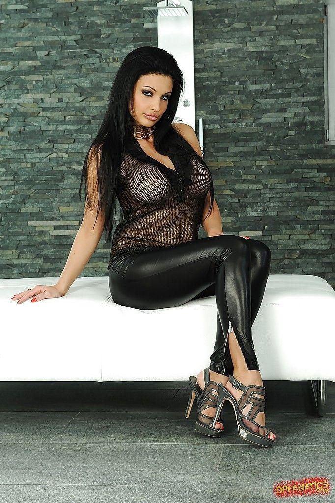 Aletta ocean black leather pants