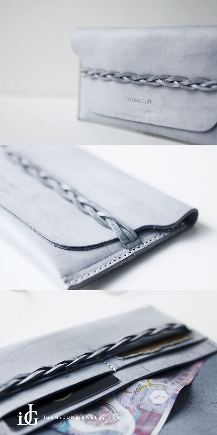 Handmade Womens Leather braided Wallet Slim Leather Wallets for Women