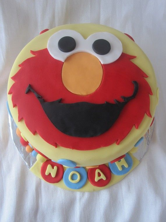 ELMO Sesame Street Edible 7 Fondant 2D Cake Topper Oscar Cookie