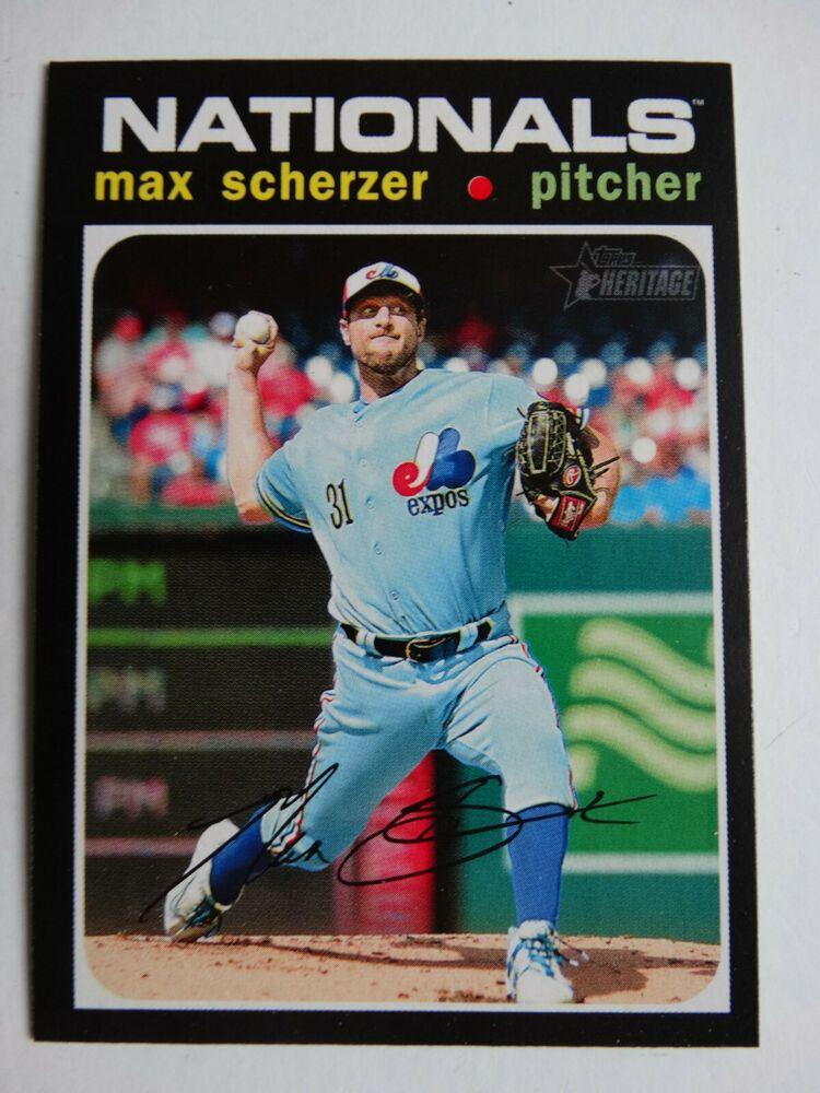 2020 Topps Heritage Max Scherzer Nationals Throwback