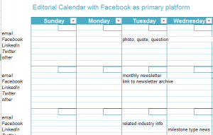 Social Media Editorial Calendar Templates Laura B. Poindexter Sept. 2014