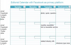 Social Media Editorial Calendar Templates Laura B Poindexter Sept