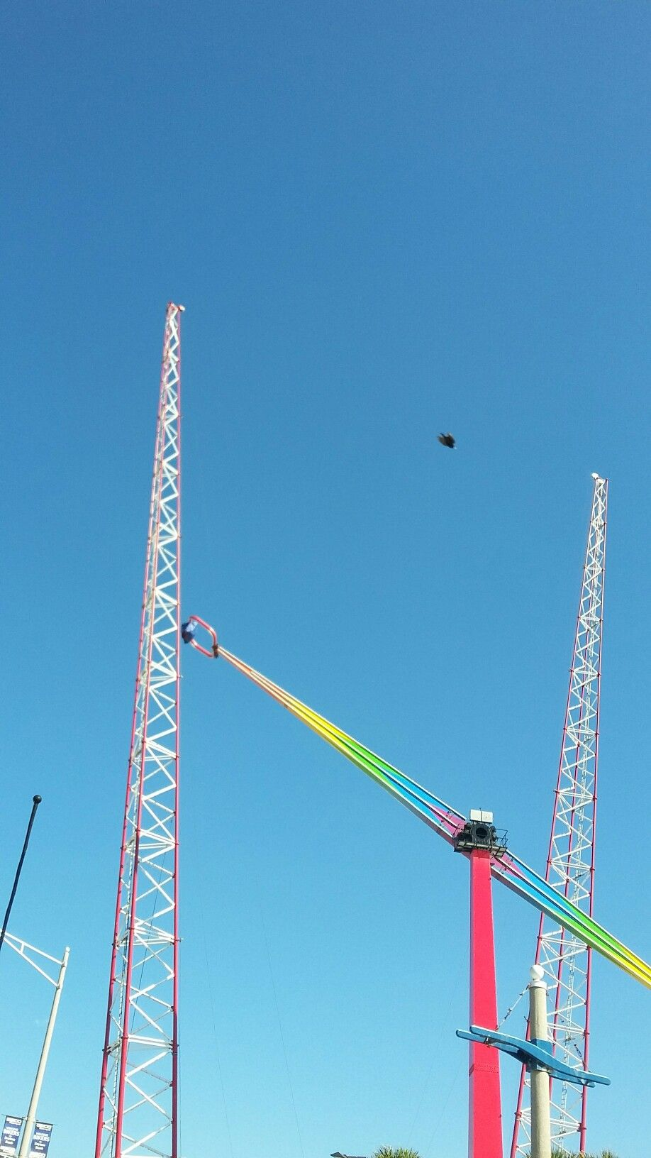 Make Yourself Scream On The Slingshot Ride Sends You 300 Ft Up Daytona Beach Florida