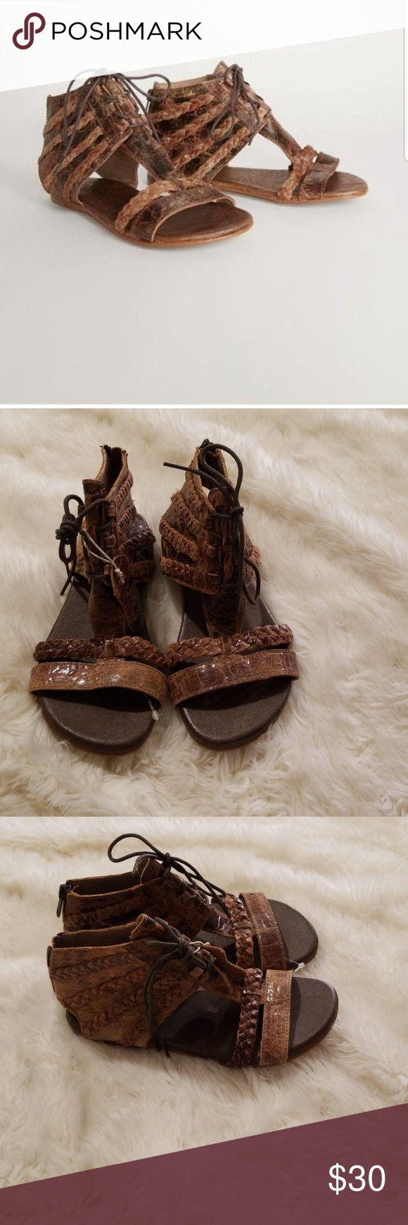 baefeb23667 NWT ROAN POPPY LEATHER SANDALS New and comfortable ROAN Shoes Sandals