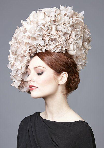 053a67b2987 Rachel Trevor Morgan Millinery - Apricot silk petal disc