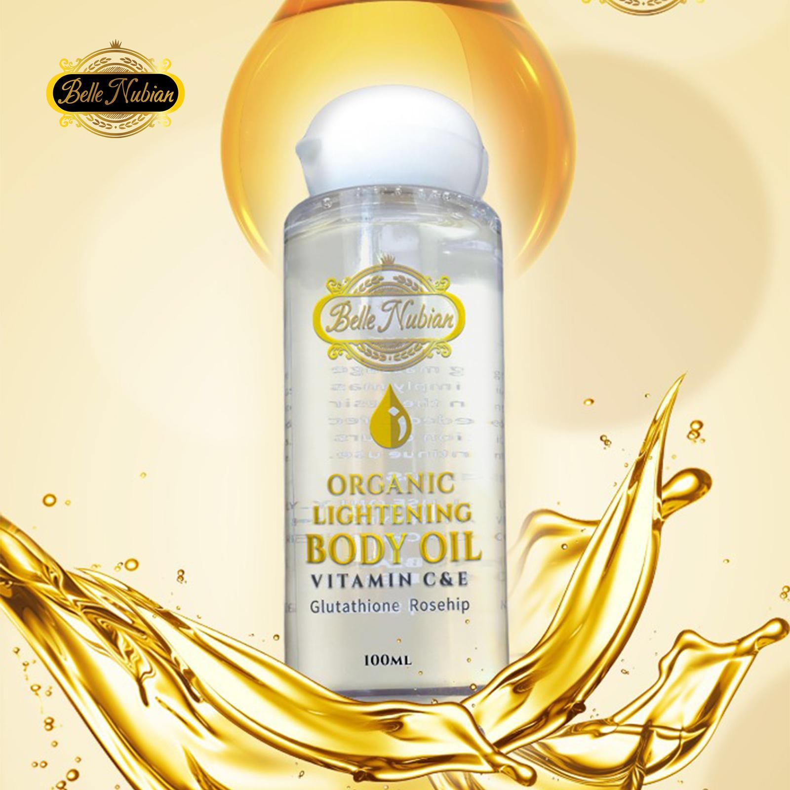 skin lightening body oil
