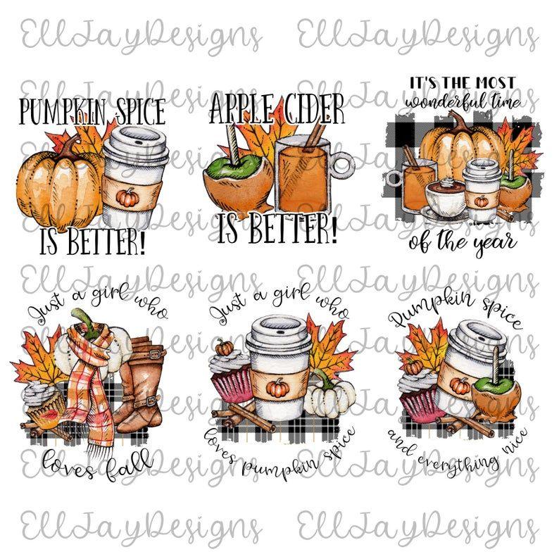 6 Pumpkin Spice Png For Sublimation Plaid Pumpkin Apple Etsy Pumpkin Spice Sublime Spices