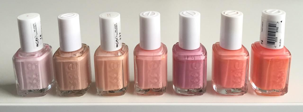 ESSIE Fiji, Perennial Chic, Back in the limo, Van d\'go, Flawless ...
