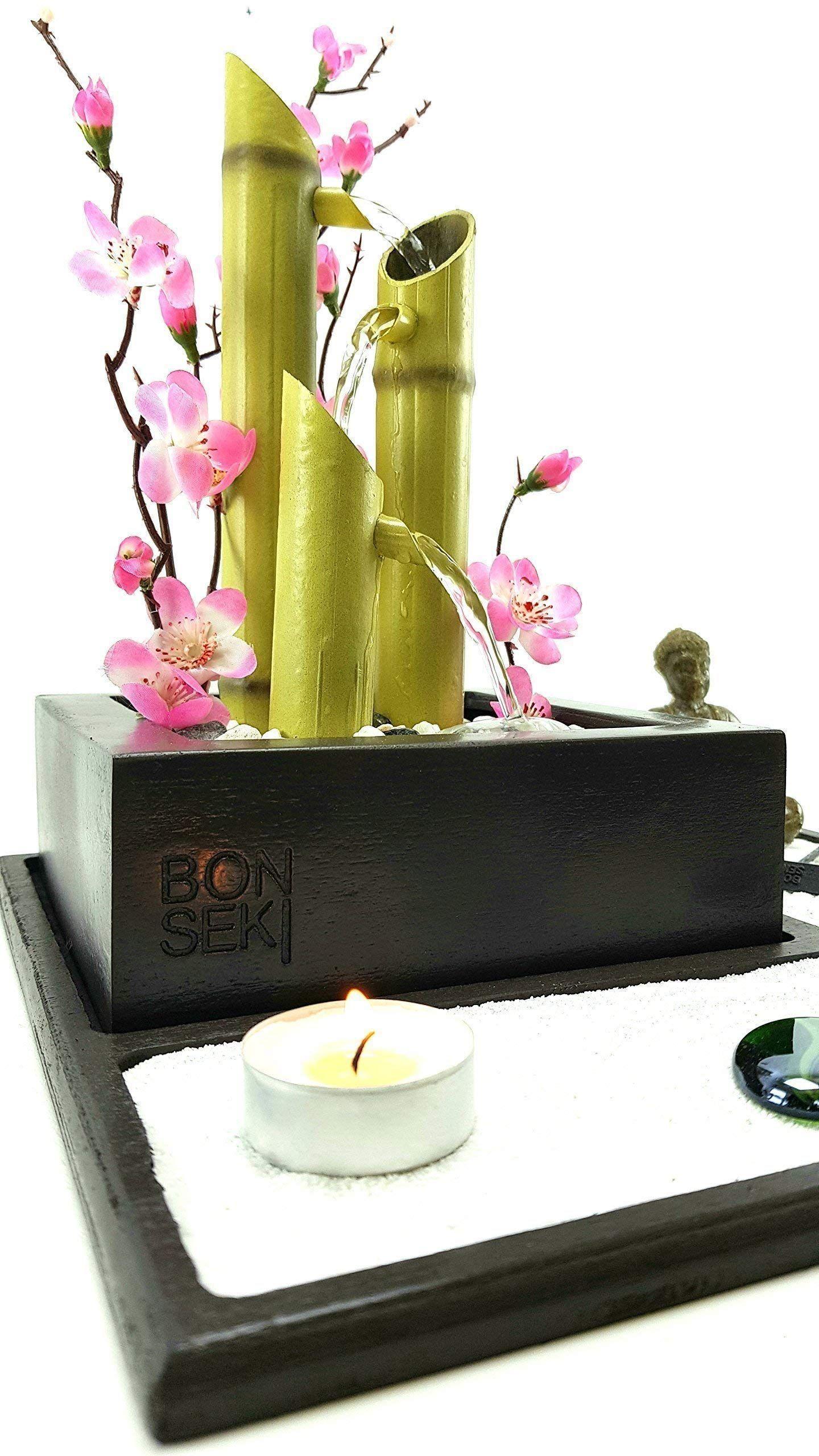 Bonseki Fontana Zen Elegance Giardino Zen Da Tavolo Con