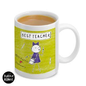 Personalised Purple Ronnie Female Teacher Mug | Personalised Mug