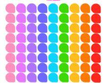 Rainbow Teardrops, Planner Stickers Set of 70 for Erin Condren, Plum Paper, Kikki, or Filofax Planners