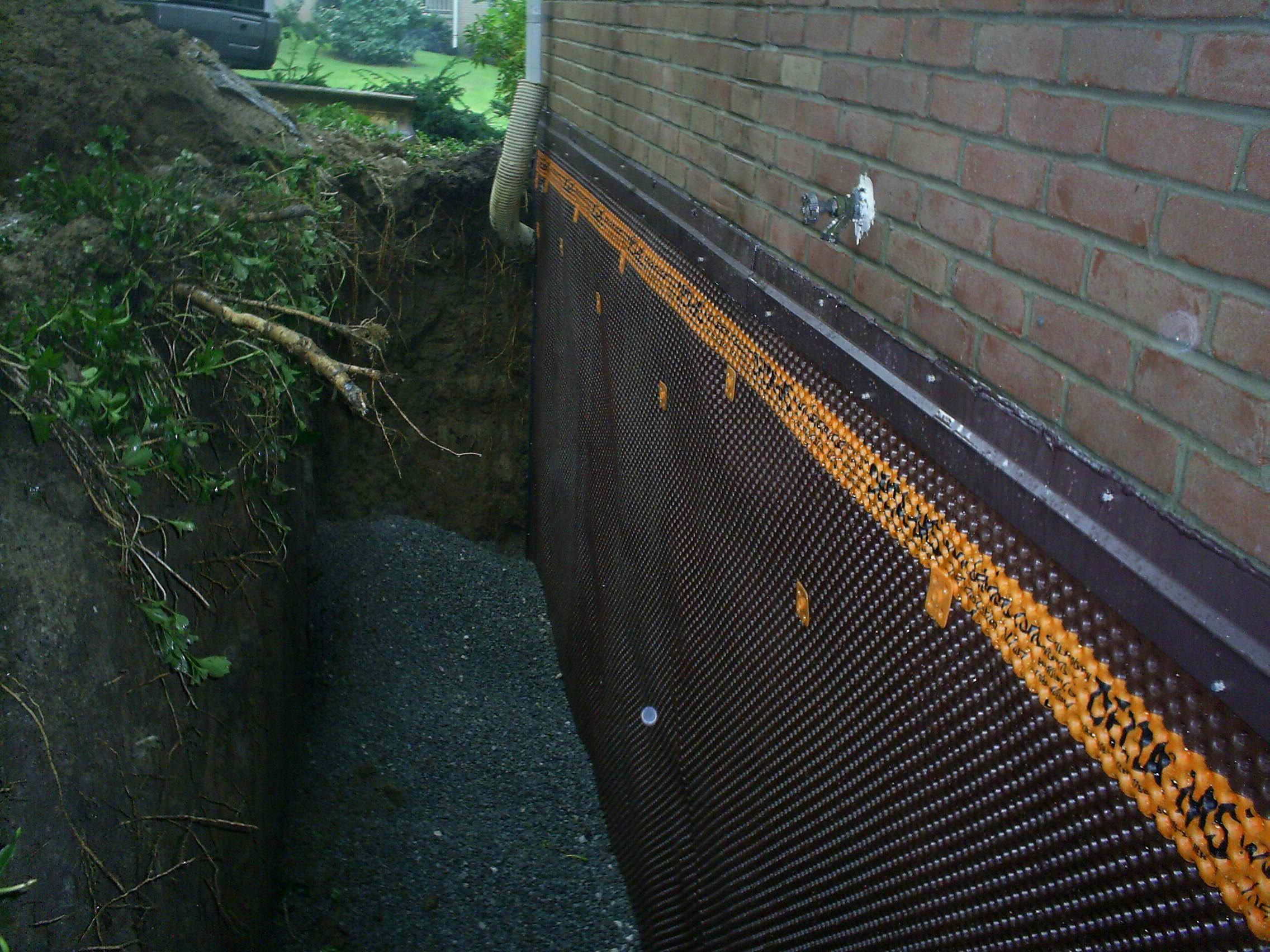 Exterior Basement Wall Waterproofing Waterproofing Basement