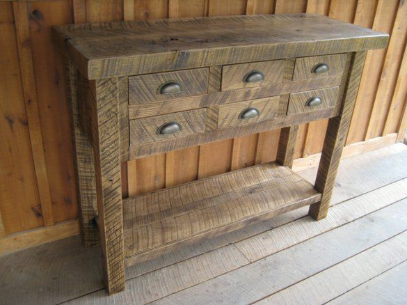 Aged Oak Multi Drawer Stand By Unique Custom Furniture