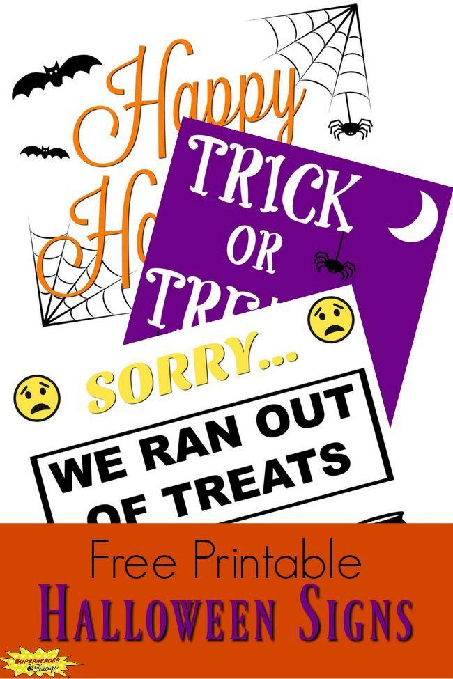 Free Printable Halloween Signs Halloween signs, Free printable and - free halloween decorations printable