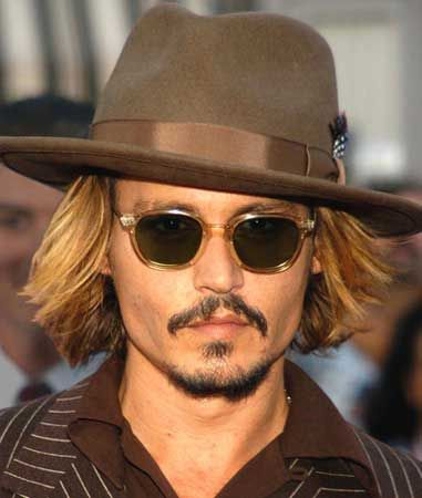 36a597136a7b Johnny Depp - With his signature moustache