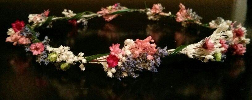 Corona flores secas Cosas que me encantan del cabello y de la - flores secas