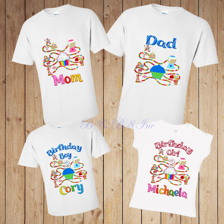 Candyland candyland birthday shirt twin birthday