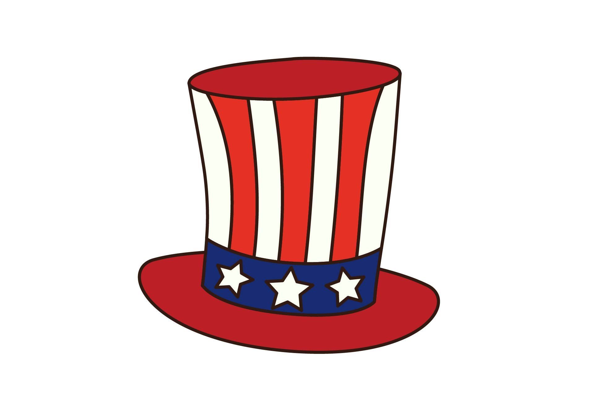 4th July Independence Day Uncle Sam Hat Graphic By Studioisamu Creative Fabrica